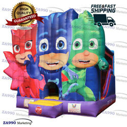 16x18ft Commercial Inflatable Pj Masks Bounce House And Slide With Air Blower