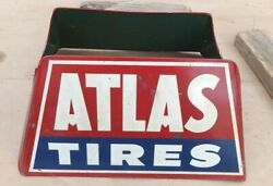 Vintage Atlas Tires Display Rack Stand Holder Original S-1 S.s