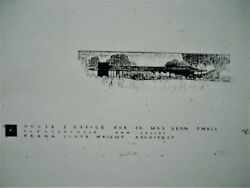Frank Lloyd Wright 147 Individual Files Of Plans Prelims And Details Part 2