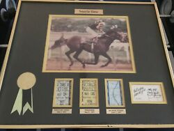Seattle Slew With Winning Tickets And Signed 167/500