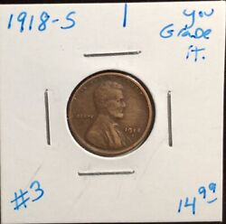1918-s Lincoln Wheat Penny Cent 1¢ San Francisco Mint