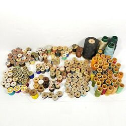 4 Lb Huge Lot Antique And Vtg Sewing Thread Wood Spools Cotton Silk Fly Fishing