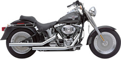 Cobraandreg 2-into-2 Dragsters Chrome Motorcycle Exhaust - Round Shape 6810t