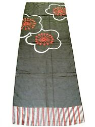 BEACH SECRET BY ANITA BEACH COVER UP SARONG SCARF BLACK FLORAL ITALIAN 66quot; x 23quot; $9.99