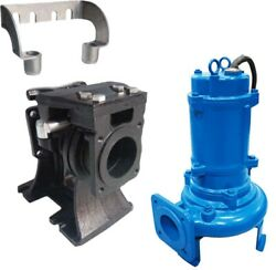 Shredder Pump And Slide Rail - Submersible - 4 Out - 320 Gpm - 230 V - 3 Ph - 3hp