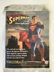 Dc Direct Gallery Superman 14 Scale Museum Quality Comic Book Statue 29/1000