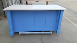 6ft Custom Color Kitchen Island With White Quartz Top Custom Welcomed