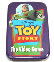 Disney Button Toy Story The Video Game Promo Advertising Pin Back Buzz Lightyear