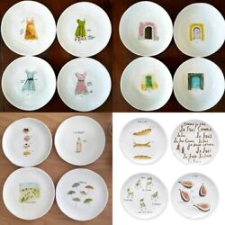 Rae Dunn Retired French Sketch Boutique Mugs Appetizer Plates Platter Pasta Bowl