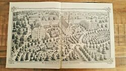 Antique Engraving 1875 - St. Maryand039s - St.joseph County Indiana/hist. Atlas