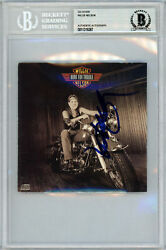 Willie Nelson Autographed Signed Cd Cover Born For Trouble Beckett Authentic