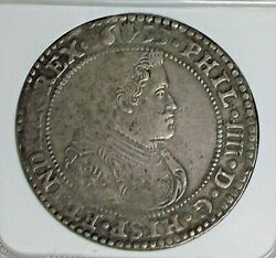 1653 Spanish Netherlands Brabant Philip Iv Ducaton Ngc Xf-details Cleaned