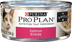 Purina Pro Plan Wet Cat Food, Salmon Entree In Sauce - 24 5.5 Oz. Cans
