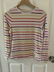 Lands End Girls Striped Long Sleeve Shirt Size XL 16