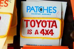 HOLM PATCHES TOYOTA IS A 4X4 SEW ON PATCH RED & WHITE & YELLOW VINTAGE PATCH