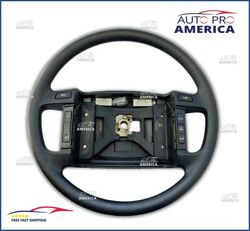 New Genuine 90-1993 Ford Mustang Gt Black Steering Wheel W/ Cruise Control Rare