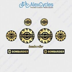 Bombardier Gold Sea Ski Doo 2 3 4 51 75 101mm Laminated Decals Stickers Brp