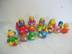 Playskool 3 Weeble Wobble 16 Pcs Car Scooter Motorcycle Animals 1995 Hasbr0 +