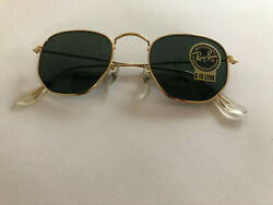 Ray-ban W0980 Bausch And Lomb Classic Coll. Style 3 Arista W/ G-15 Hexagon Lenses