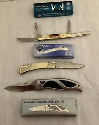 Fold Knives Lot Of 3 , New Old Stock ,15 Yrs In Storage, Assortment,pocket Carry