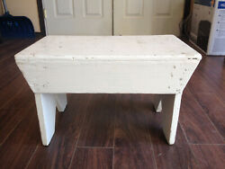 Vintage Wooden Step Stool Shabby Chic