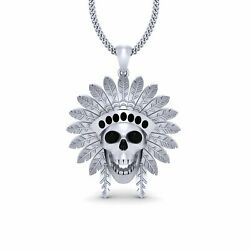 Sterling Silver Native American Skull Pendant American Indian Jewelry For Unisex
