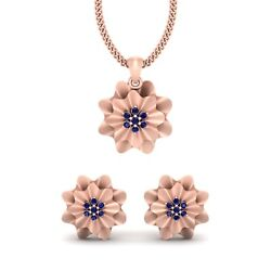 Rose Gold Pendant Earrings Bridal Set Double Layer Wavy Pendant Set With Earring