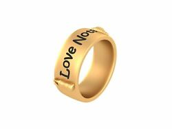 Love Note Band Gift For Sailor Sea Love Message Bottle Nautical Engagement Ring