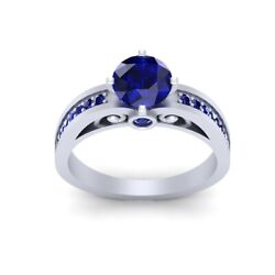 1.60cttw Sapphire Blue Interactive Droid Robot R2d2 Inspired Engagement Ring Her