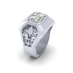 Royal French Flower Fleur De Lis Wedding Band For Menand039s Solitaire Band Gift Him