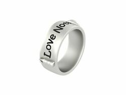 Conch Shell And Message Bottle Nautical Ring Band Love Note Band Sea Lovers Gift