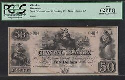 50 New Orleans Canal And Banking Co Pcgs 62 Ppq