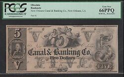 5 New Orleans Canal And Banking Co Pcgs 66 Ppq