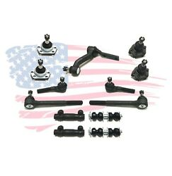 13 Pc Suspension Kit For Chevrolet Gmc Isuzu Oldsmobile Tie Rod Ends Ball Joint