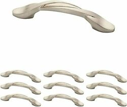 Kitchen Cabinet Drawer Handle Pull Curved Handles Brushed Nickel 25 Pack 3 Inch
