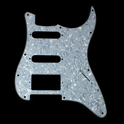 Relacment Guitar Pickguard For Strat Hss Style 4ply White Pearl Celluloid