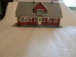 1 Model Power Chester Station Illuminated Interior. H.o. Scale. Excellent Condi
