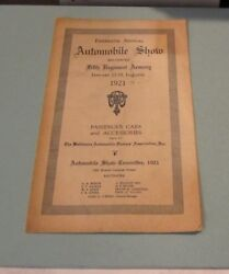 1921 Fifteenth Annual Baltimore Automobile Show Program And Exhibitor List And Map