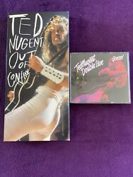 Set Of 2 Ted Nugent Cds Out Of Control & Double Live Gonzo 2 Disc Set Free Ship