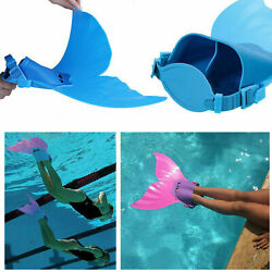 Kids Adjustable Monofin Mermaid Tail Girls Diving Swim Training Gear Flipper USA