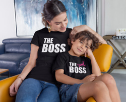 The Boss T Shirts Set Mommy And Me Mom And Daughter Son First Mothers Day Gift