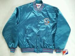 Vintage Rare Nwt Made In Usa Swingster Charlotte Hornets Satin Jacket In Size Xl