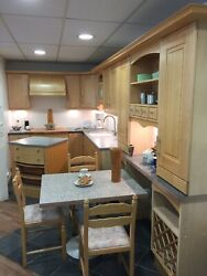 Ex Display Natural Maple Wood Kitchen Rrp Andpound11495