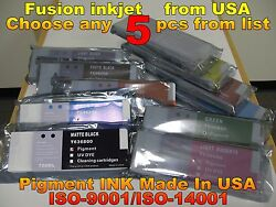 Any 5 Tank Fit Stylus Pro 7700 9700 7900 9900 7890 9890 7900ctp Not Oem Oo