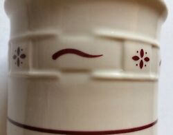 """Longaberger Woven Crock Pottery Red Made In Usa Collectible Pottery 4.5"""""""