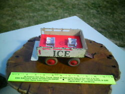 1930s Marx Pressed Steel Toy Stake Trailer New Insert And Two Acrylic Ice Cubes