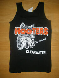 New Hooters Girl Authentic Black Uniform Tank Clearwater Fla Sizes Xs Sm Med Lrg