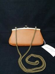 Brown faux leather clutch shoulder bag NWT $15.00