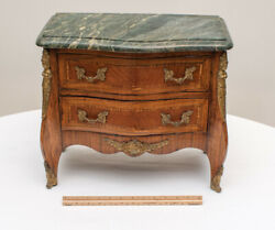 Late 19th C. Louis Xv Style Childand039s Miniature Kingwood Bombay Commode Chest Doll
