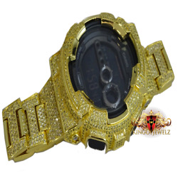 Canary Full Icy Custom Men's Authentic G-shock Simulated Diamond Watch Gd100